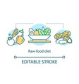 raw food diet weight loss concept icon vegan vector image vector image