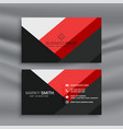 red and black abstract business card template vector image vector image