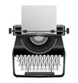 retro typewriter mockup realistic style vector image vector image