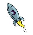 rocket cartoon hand drawn image vector image vector image