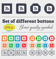 RSS feed icon sign Big set of colorful diverse vector image vector image