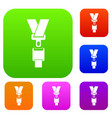 safety belt set collection vector image vector image
