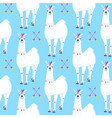 seamless kids pattern with funny llama cute vector image vector image