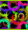 seamless texture of bright purple and blue gears vector image vector image