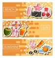 Set of Horizontal Banners about Beach vector image vector image