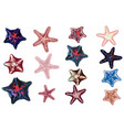 set sea starfishes for design vector image vector image