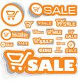 shopping sticker set vector image vector image