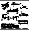silhouettes of vehicles vector image vector image