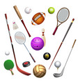 sport inventory icons vector image