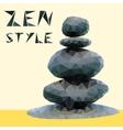 stones in zen style vector image