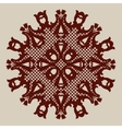 Template mandala pattern for decorative rosette vector image vector image