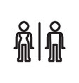 toilet sign stick man style vector image vector image