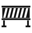 Traffic barrier icon simple style vector image vector image