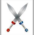 two roman swords vector image