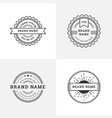 Vintage retro style emblem badge logo design