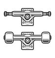 vintage skateboard wheels concept vector image