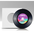 vinyl disc blank isolated white background vector image vector image