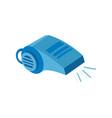 whistle logo design vector image vector image