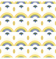 white pattern with rainbow and ornaments vector image