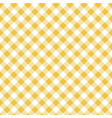 yellow seamless table cloth texture diagonal vector image vector image