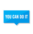 you can do it price tag vector image vector image