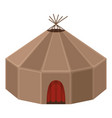 yurt house circular domed tent skins vector image vector image