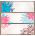Set of three floral banners vector image