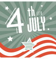 Fourth July 1776 Independence Day Retro Background vector image