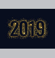 2019 shiny glitter golden new year background vector image vector image