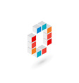 3d cube letter O number 0 logo icon design vector image vector image