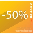 50 percent discount icon symbol Flat modern web vector image