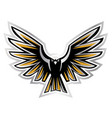 a open wings eagle vector image