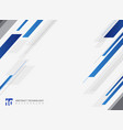 abstract technology geometric blue color shiny vector image vector image