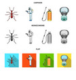 ant staff in overalls and equipment cartoonflat vector image