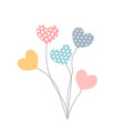 balloons in the heart shape in different colors vector image