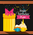 birthday gift with cupcakes vector image vector image