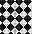Black and white alternating Fleur-de-lis contoured vector image vector image