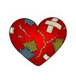 broken heart metaphor pop art vector image vector image
