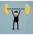 business executive power lifting vector image vector image