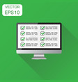 businessman checklist with computer icon business vector image