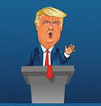 caricature president donald trump vector image