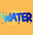 cartoon word water liquid aqua texture on beach