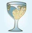 claustrophobia glass vector image vector image