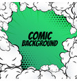 comic background with clouds frame pop art vector image vector image