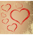 Drawing in the shape of heart abstract heart with vector image vector image