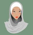 emoticon muslim girl sadness vector image