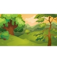 Evening Forest Game Background vector image vector image
