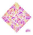 feast art graphics for holi celebration vector image