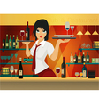Female bartender vector image vector image