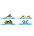 four nature scene with islands and ocean vector image